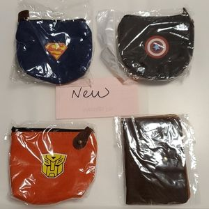 @new@ 4 for $20 coin bags and card holders